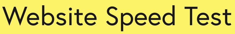 Web Site Speed Test